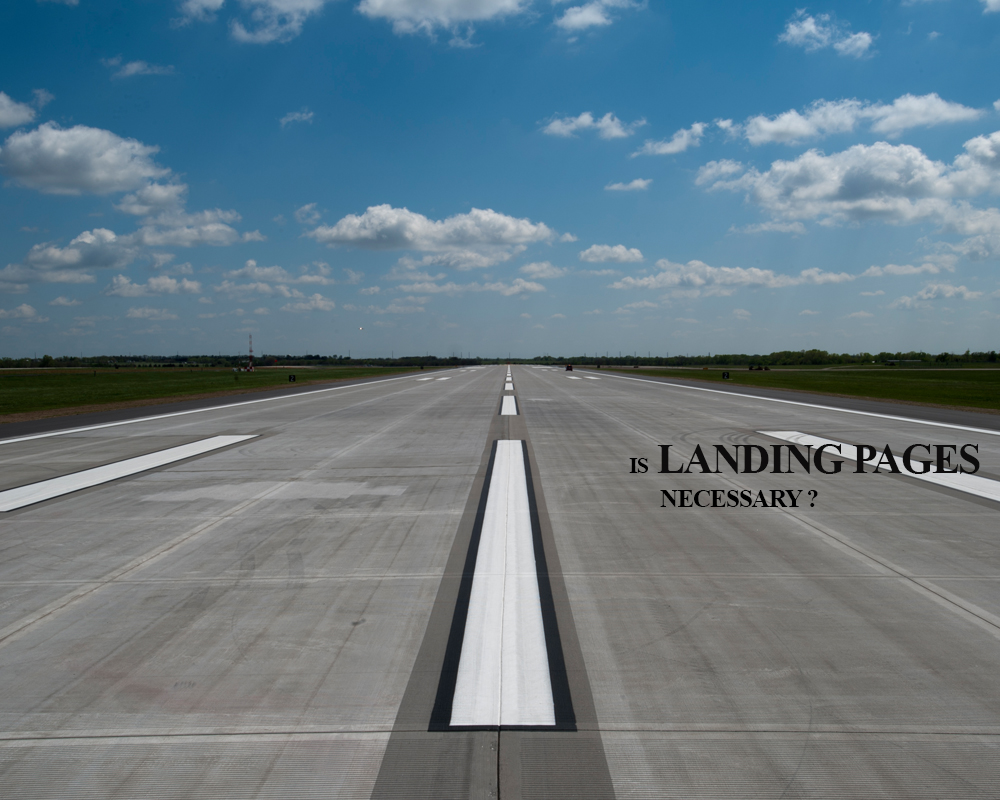 Landing page development