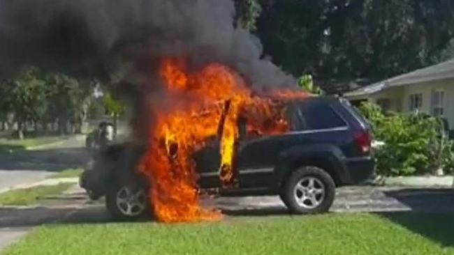 Car-Catches-Fire