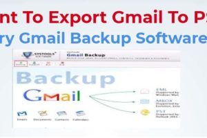 Export Emails From Gmail To PST File
