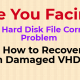 Recover Damaged VHD File Data With the Help of VHD Data Recovery Tool