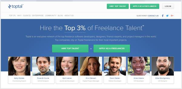 Toptal - Toptal is an exclusive network of the top freelance software developers
