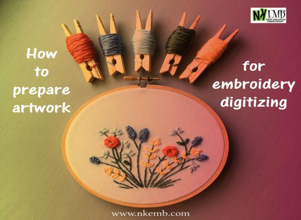 How to prepare an artwork for embroidery digitizing?